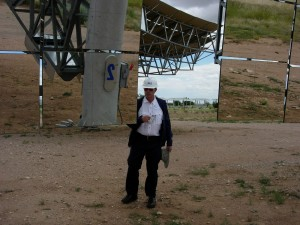 Inspection of 25-kilowatt-electric (kWe) solar dish Stirling system
