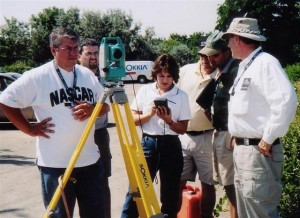 Dr. McElroy and Sokkia Total Station training in Burlington, Ontario Canada at CATAIR Annual General Meeting