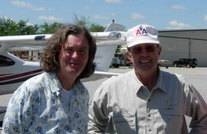 James May and Dr. McElroy at BBC filming for Top Gear in Florida
