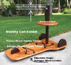 Mobility Cart Trial Exhibit with Lines of Stability