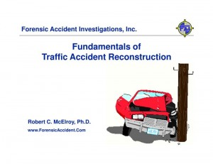 Traffic Accident Reconstruction Fundamentals